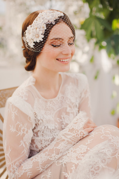 MAYA BIRDCAGE - Bridal headpiece