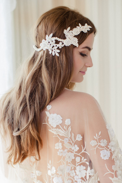 JOSEFINE - reverse bridal headpiece